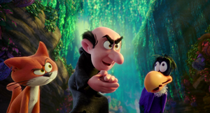 Gargamel find the lost village