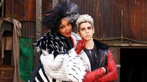 Cruella and her son Carlos