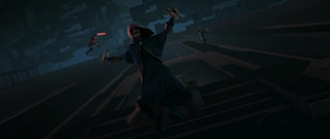 Darth Sidious flying