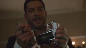 Michael breaks a criminal's gun