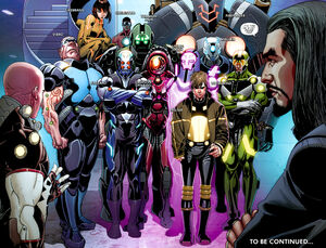 Melter with other supervillains