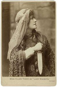 Ellen Terry plays Lady Macbeth