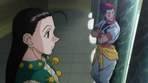 Illumi and Hisoka after the Hunter Exam