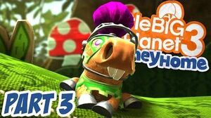 LittleBigPlanet 3 - The Journey Home 100% Walkthrough Part 3 - Spring Time in the Gardens - LBP3 PS4
