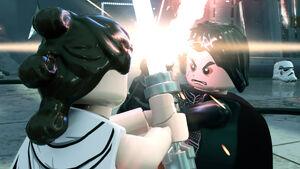 Rey and Kylo -Lego Star Wars Skywalker saga