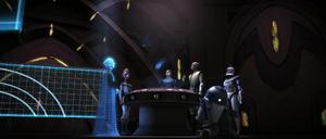 Palpatine hologram examine
