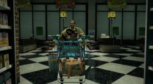 Steven Chapman inside his Supermarket