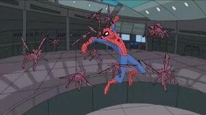 Spectacular Spider-Man (2008) Spider-Man vs Mysterio gargoyle robots