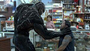Edward Brock, and Venom (Klyntar), Mrs Cheng and Robber (Earth-TRN688) from Venom (film) 0001
