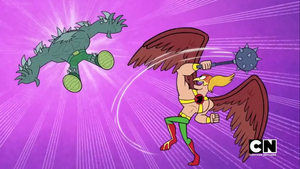 Hawkman Slams Doomsday Away