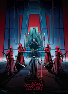 Kylo Ren, Snoke and the Praetorian Guards