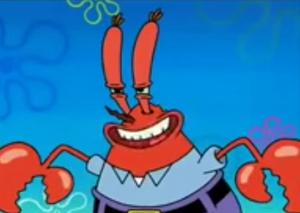 Mr krabs smile