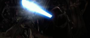 Anakin fights Geonosian