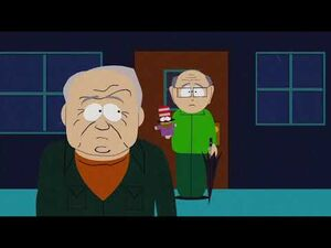 Mr Garrison meets and confronts his dad - South Park