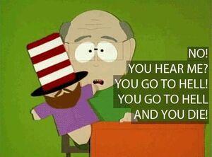 Eyeless Mr. Hat with Mr. Garrison