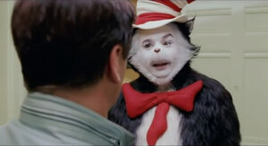 Cat in the Hat facing Larry Quinn