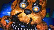 Five Nights at Freddy's 4- NIGHTMARE FREDDY JUMPSCARE (FNAF 4)