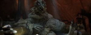 SkekOk hiding his naked body