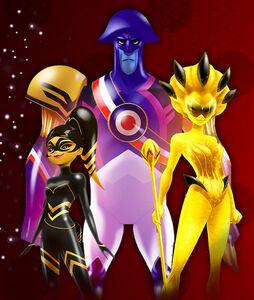 Queen Wasp,Malediktator and Style Queen