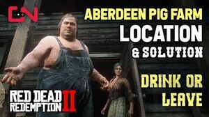 Red Dead Redemption 2 - Aberdeen Pig Farm Location & Solution - Drink or Leave