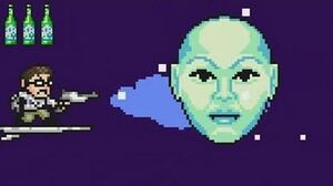 Angry Video Game Nerd Adventures - Future Fuckballs 2010 Stage (No Damage walkthrough)