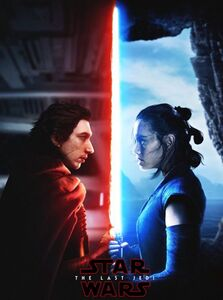TLJ Kylo and Rey poster