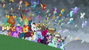 The cavalry of united Equestria arrives S9E25