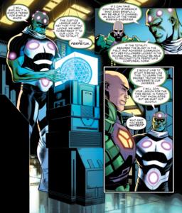 Brainiac and Lex Luthor