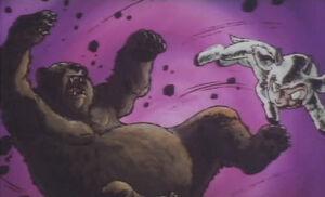 Chirin fighting bear