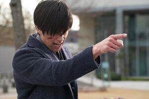 Dan pointing