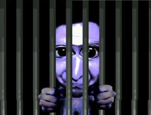 Ao Oni cage