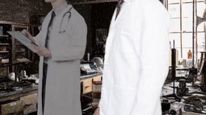Whitecoats at lab