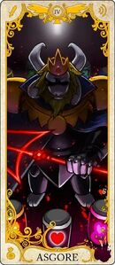 Asgore Tarot Card