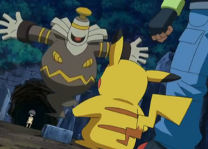 Dusknoir Protects Ash And Angie