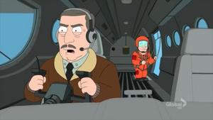 General Richter Flying a Plane