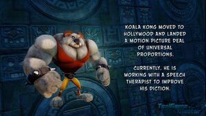 Koala Kong's epilogue in the N. Sane Trilogy