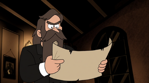 S2e10 nathaniel looking over paper