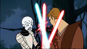 Asajj Anakin laser-grind