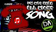 FIVE NIGHTS AT FREDDY'S SONG (Not Here All Night) LYRIC VIDEO - DAGames