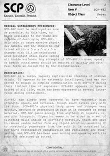 SCP-682 Document