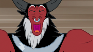 Lord Tirek happily singing S9E8