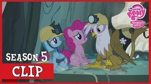 Gilda Saves Rainbow and Pinkie (The Lost Treasure of Griffonstone) MLP FiM HD