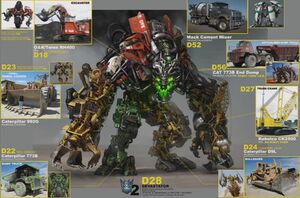 ROTF Devastator and components concept art