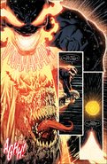 Knull (Earth-616) and Edward Brock (Earth-616) from King in Black Vol 1 5 001