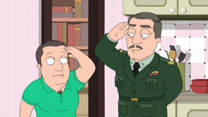 Holt and his Dad Saluting