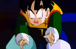 Kneed gohan in the stomach