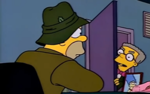 Smithers in homer office