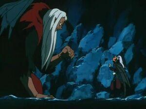 Tsukuyomaru confronts Taigokumaru