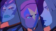 Acxa, Ezor, and Zethrid hear Zarkon's voice