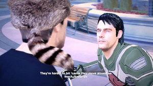 Leon telling Chuck, that humans are like walking targets